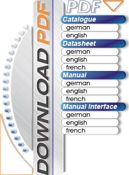 Download catalogues, data sheets, manuals, in german, english and french
